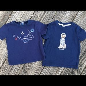 2 Sz 18-24 Janie and jack T-shirts